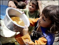 Displaced children from Swat