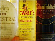 Bottles of whisky