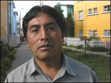 Anibal Cuarhapoma, former company union leader