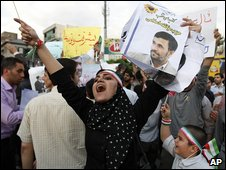 Supporter of Mahmoud Ahmadinejad
