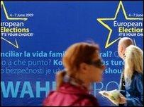 ملصق انتخابات اوروبية في بروكسيل