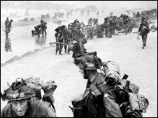The Normandy landings in 1944
