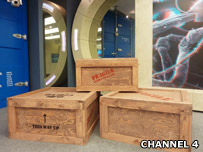 Crates in new Big Brother house