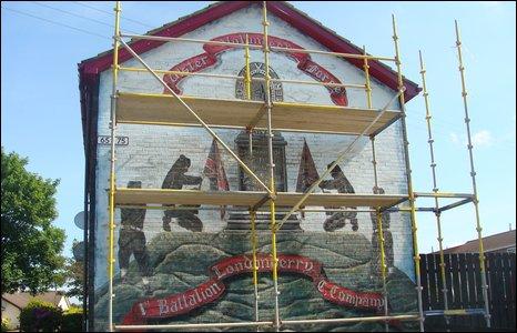 Loyalist mural