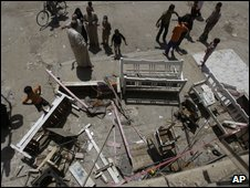 (File photo) Bomb in Baghdad 02/06/09