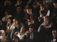 The audience at Cairo university