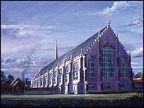 Artist's impression of the church