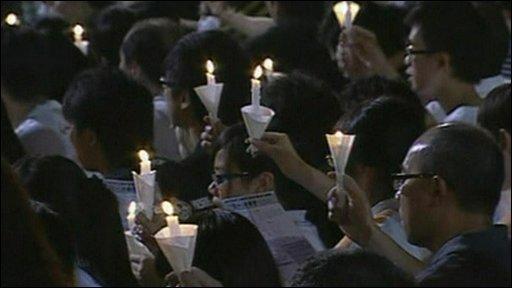 Hong Kong candlelight vigil