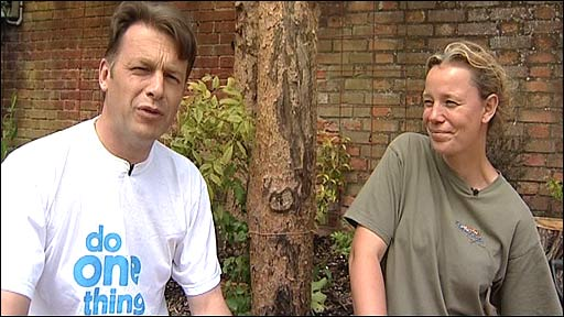 Chris Packham and Imogen Checketts