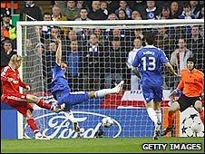 Liverpool striker Fernando Torres in action against Chelsea