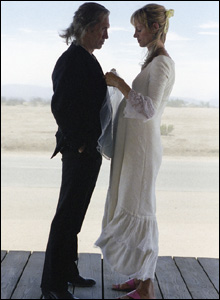 David Carradine and Uma Thurman
