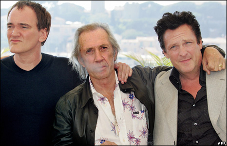 Quentin Tarantino, David Carradine and  Michael Madsen
