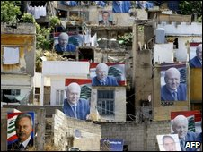 Election posters in Tripoli