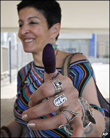 Lebanese election worker