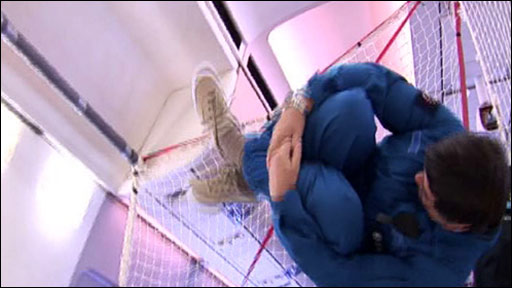 Martin Redfern experiences near-weightlessness.