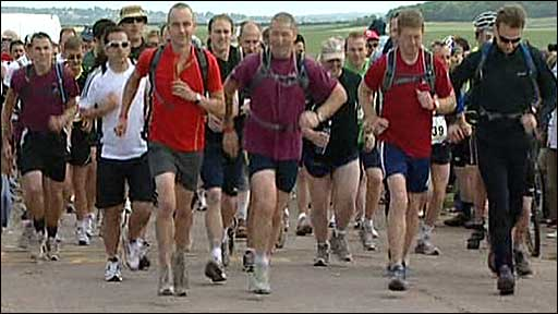 Runners set off for Pegasus Bridge