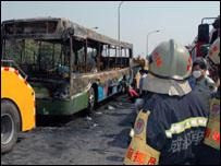 حريق الحافلة في تشينجدو