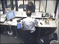 Nigel Farmer in the front office at Lewisham Police Station