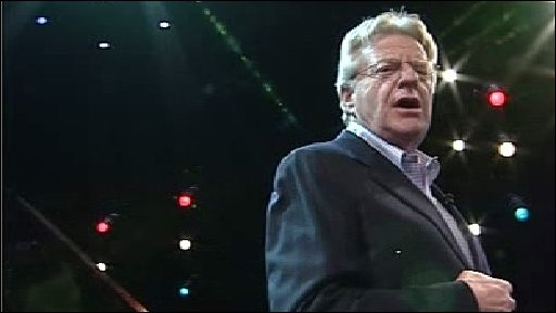 Jerry Springer on the stage