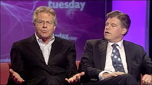 Jerry Springer and Andrew Rawnsley