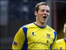 St Johnstone striker Kenny Deuchar