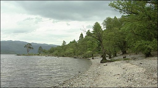 Shore of island on Loch Lomond