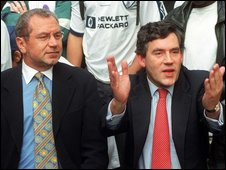 Sir Alan Sugar and Gordon Brown in 1997
