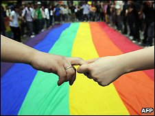 Gay rights supporters parade in Hong Kong - 18/5/2008