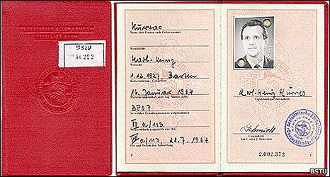 Document allegedly showing Karl-Heinz Kurras' membership of the SED (Bundesbeauftragte f�r die Unterlagen des Staatssicherheitsdienstes der ehemaligen DDR (BStU))
