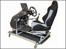 Photo of the driving simulator