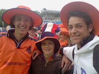 Cricket fans at Lords