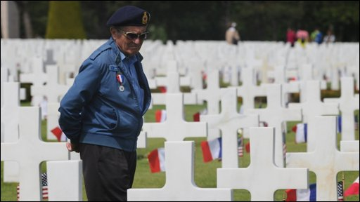 Ex-soldier at D-Day ceremony