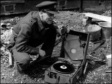The BBC's CD Adamson in 1944