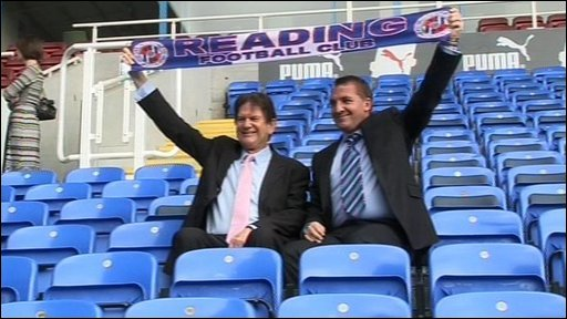 John Madejski and Brendan Rodgers