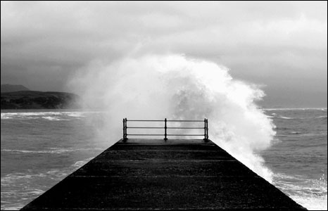 Paul James from Chepstow sent this  picture taken at Criccieth, Gwynedd  in stormy weather last week