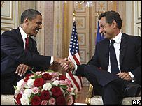 اوباما وساركوزي