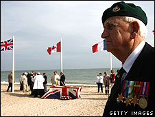 British veteran at Sword beach