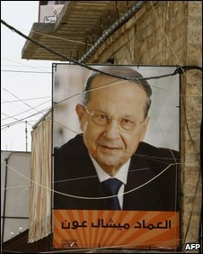 Election poster of Michel Aoun