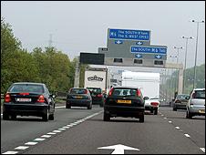 Cars on UK motorway (file pic)