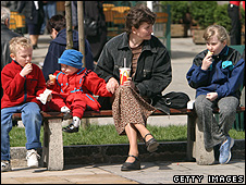 A family in Krakow, Poland (file pic)