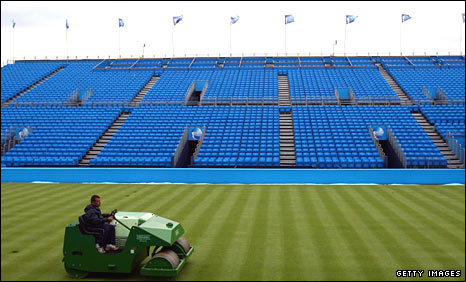 The Queen's Club stands have been given a new look this year