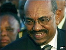 President Bashir arrives in Victoria Falls, Zimbabwe