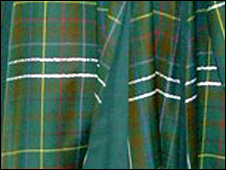 Glow in the dark tartan