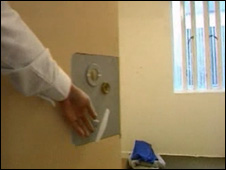 Inside a cell at Parc Prison