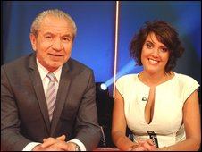Sir Alan with Apprentice pick Yasmina Siadatan