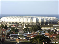 The Nelson Mandela bay stadium in Port Elizabeth