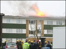 Barnes Wallis Court fire