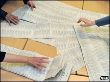 EU election ballots are counted in Germany