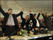 Jobbik party celebrates