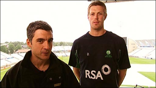 BBC's Joe Wilson and Ireland's Boyd Rankin